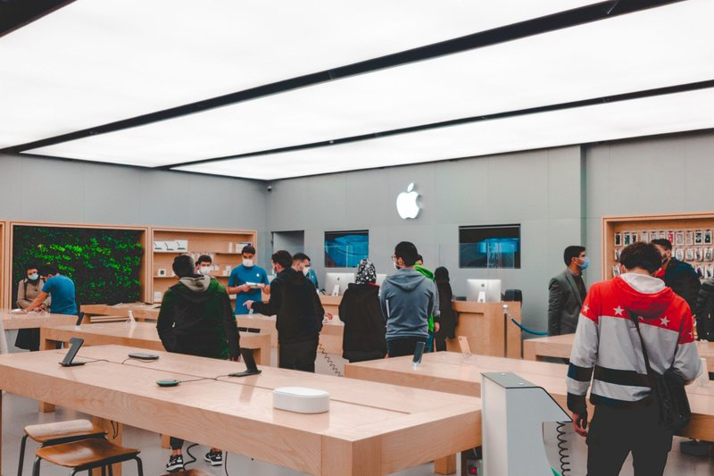 Inside Apple Store. A direct sales channel