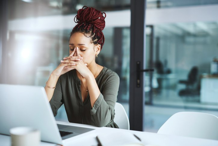 stressed woman not getting hired