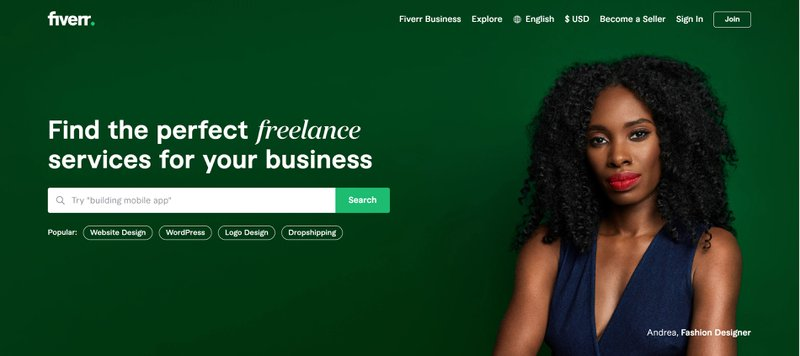 Fiverr platform has many opportunities for temporary work when between jobs