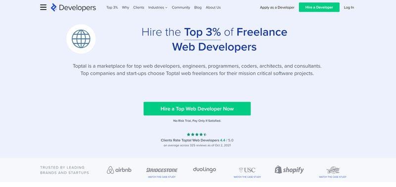 Apply for a temporary web developer job at Toptal.