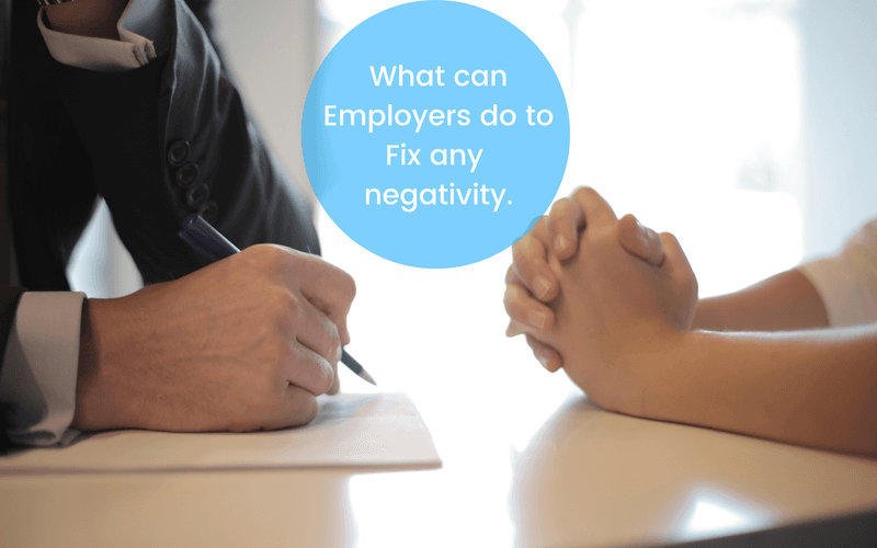 How can employers fix negativity